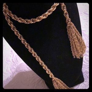 Vintage gold tone necklace scarf